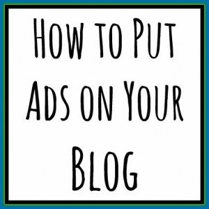 How to put the ad on your blog