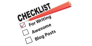 Checklist for blog