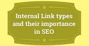 Internal link types and SEO