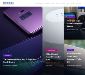 Tech News Website Template