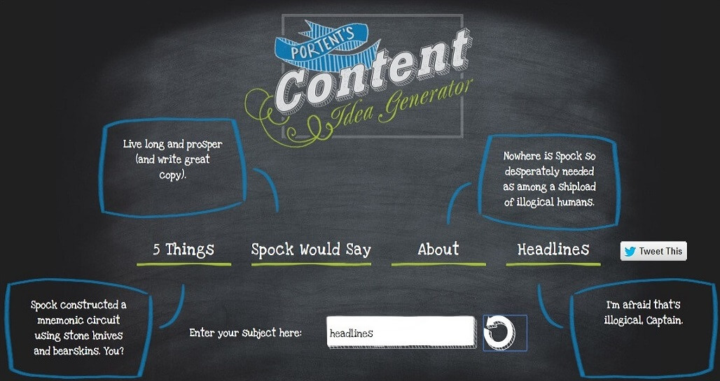 Content Row's Link Bait Title Generator